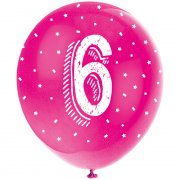 5 Palloncini multicolori Numero 6