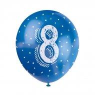 5 Palloncini multicolori Numero 8