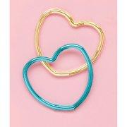 12 Bracciali cuore metallizzato (4 colori)