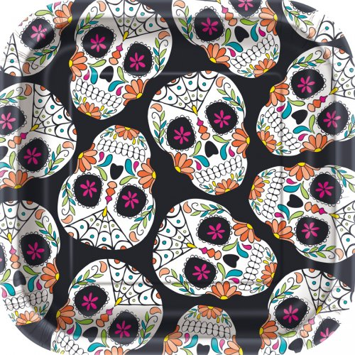 10 Piattini Calavera Skull