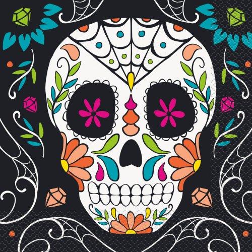 20 Tovaglioli Calavera Skull