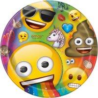 Contiene : 1 x 8 Piatti Emoji Rainbow