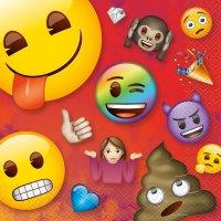 Contiene : 1 x 16 Tovaglioli Emoji Rainbow