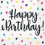 16 Tovaglioli Happy Birthday Fantasia Pop