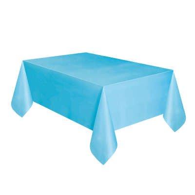 Tovaglia blu ghiaccio tinta unita