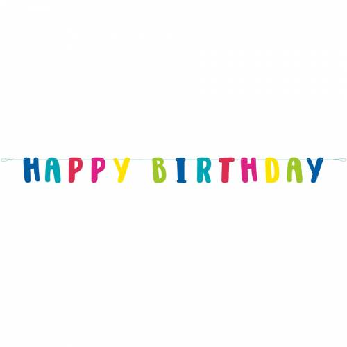 Ghirlanda Happy Birthday Lama Fun