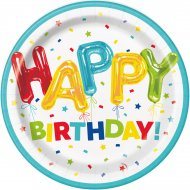 8 Piatti Happy Birthday Fantasia