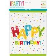 8 Sacchetti regalo Happy Birthday fantasia