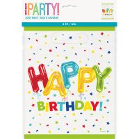 Contiene : 1 x 8 Sacchetti regalo Happy Birthday fantasia