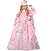 Travestimento Principessa velluto Rosa Lusso 5-6 anni