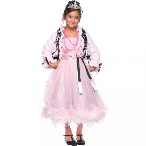 Costume Principessa del Ballo Rosa Luxury 5-6 anni