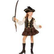 Travestimento Principessa Pirata Velluto taglia 6-8 anni
