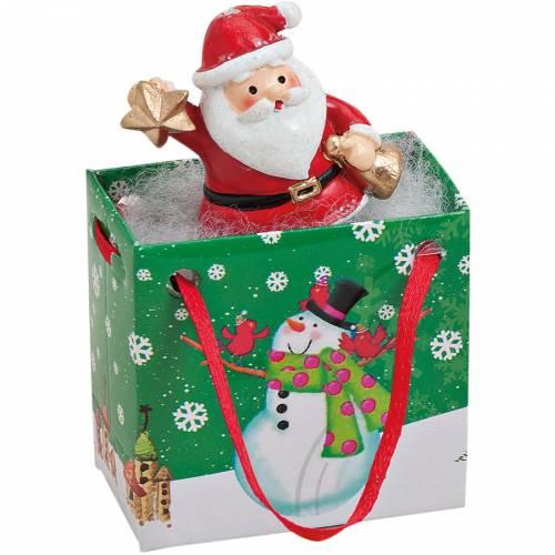Mini Gift Bag Babbo Natale (5 cm) - Resina