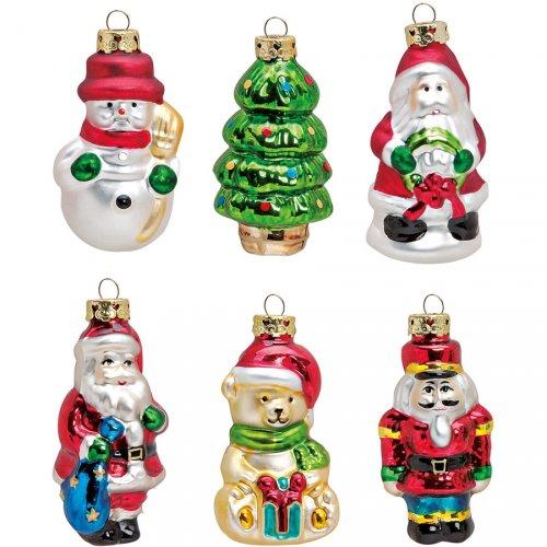 6 Palle di Natale Natalizie (9 cm) - Vetro