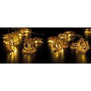 Festone Luminoso Campane di Natale a LED - Legno
