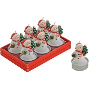 6 Candele tipo lumino pupazzo di neve (4 x 6 cm)