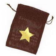 1 Bustina in tessuto stella oro - marrone