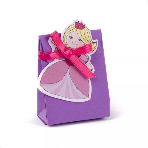 10 mini sacchettini Principessa con adesivi