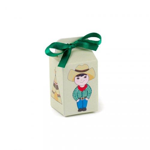 10 scatolette per confetti Cowboy