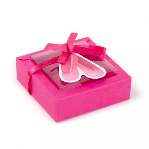 2 grandi scatole per confetti Ballerina con adesivi