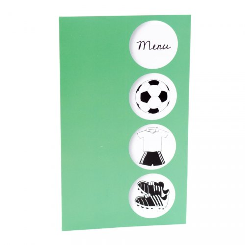 10 Menu - Tema calcio