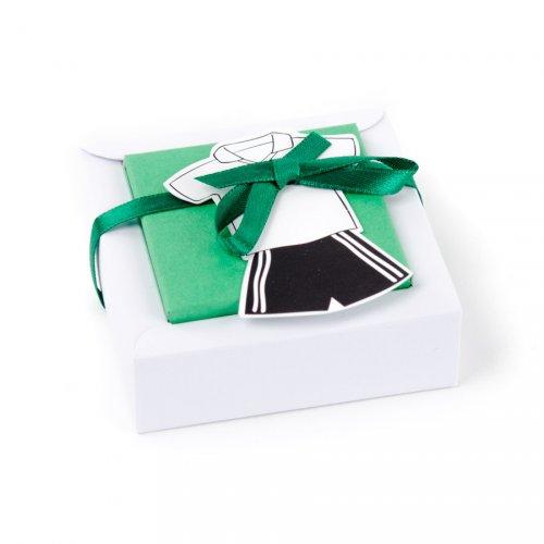 2 scatole per confetti con adesivo Maglia da calcio