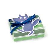 10 piccole scatole per confetti con adesivo Lupo (cappuccetto rosso)