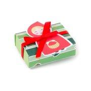 10 piccole scatole per confetti con adesivo Cappuccetto rosso