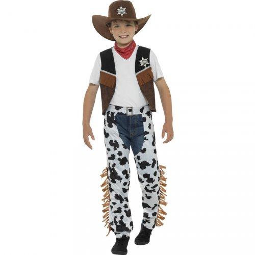 Costume Cowboy con Motivo Mucca