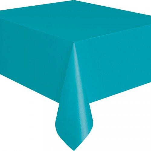 Tovaglia blu caraibico tinta unita - Plastica