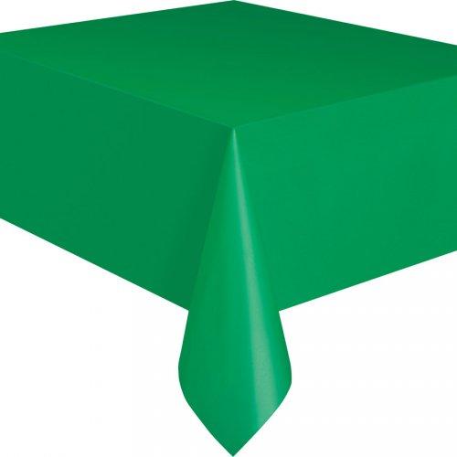 Tovaglia verde smeraldo tinta unita - plastica