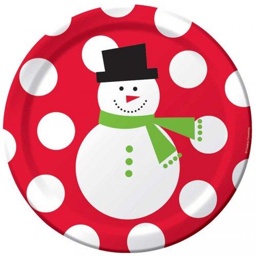 50 Piatti pupazzo di neve felice