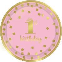 Tema compleanno Royal Birthday 1 - Rosa per il compleanno del tuo bambino