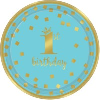 Tema compleanno Royal Birthday 1 - Blu per il compleanno del tuo bambino