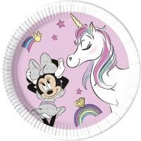 Tema compleanno Minnie Liocorno - Compostabile per il compleanno del tuo bambino